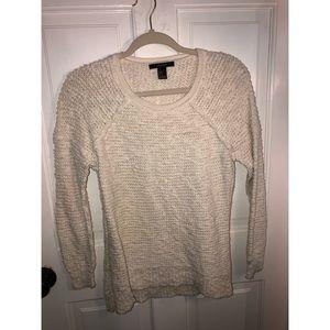 White Textured Sweater
